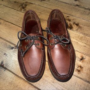 Minnetonka Moccasin Brown Leather Loafers Size 7.5